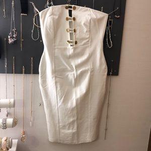 FOREVER 21 IVORY KNEE LENGTH DRESS